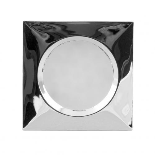 ULTRALUX - MLLS1540CH Мебелна светодиодна луна за вграждане/ открит монтаж, квадрат, 1.5W, 4000K, 12V DC, неутрална светлина SMD 3014, хром