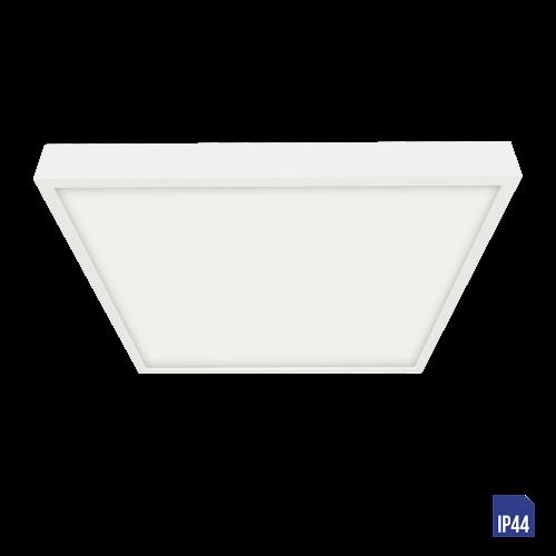 LUXERA - LED панел 6W квадрат влагозащитен IP44 външен монтаж LENYS  49040 Бял