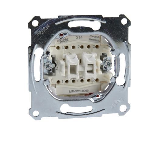 SCHNEIDER ELECTRIC - MTN3126-0000 Двоен девиаторен ключ 10А Merten
