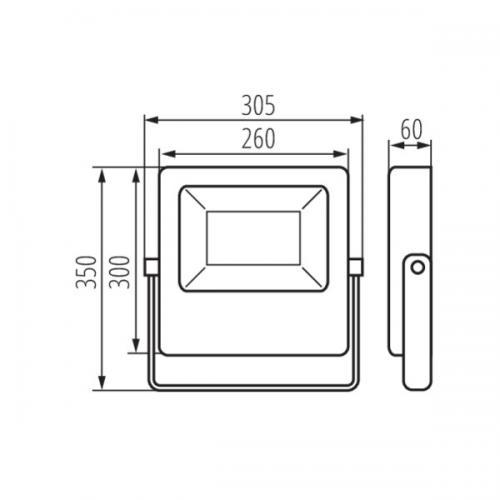 KANLUX - LED прожектор асиметричен FL AGOR/A 150W 16500lm 4000K 33474
