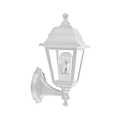 ACA LIGHTING - Градински фенер бял влагозащитен IP44 PLGP1W