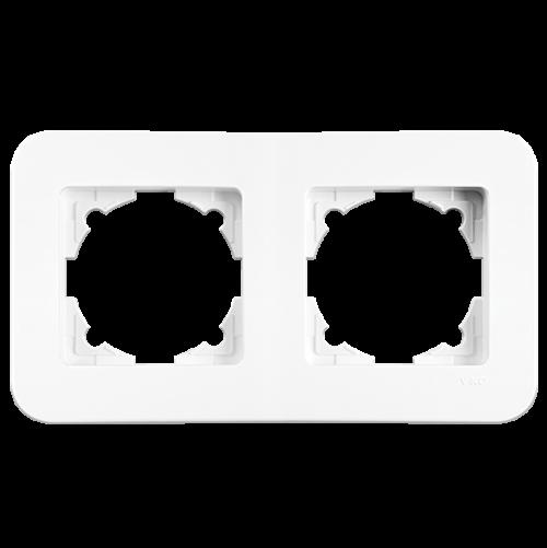 VIKO - 2 Gang Frame Horizontal white Rollina 90480052