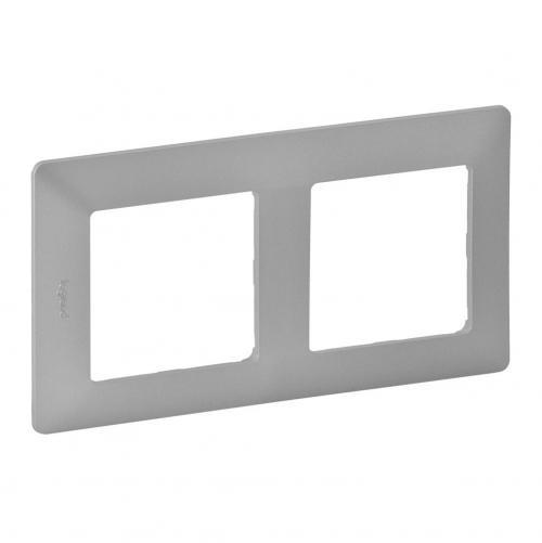 LEGRAND - Двойна рамка Valena Life 754132 алуминий