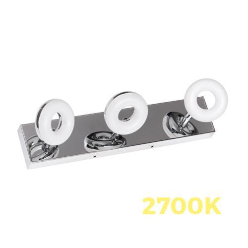 ULTRALUX - LOTB1527 LED ОСВЕТИТЕЛНО ТЯЛО ЗА БАНЯ, 3X5W, 2700K ХРОМ, IP44