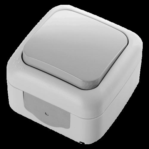 VIKO - единичен ключ Palmiye IP54 сив