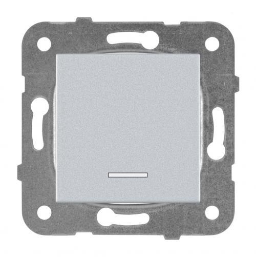 PANASONIC - Ключ бойлерен светещ 16A Panasonic Kare сив WKTT00442SL
