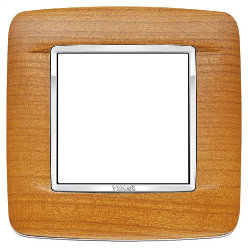 VIMAR - 20672.C36 -Двумодулна рамка Round Wood American cherry