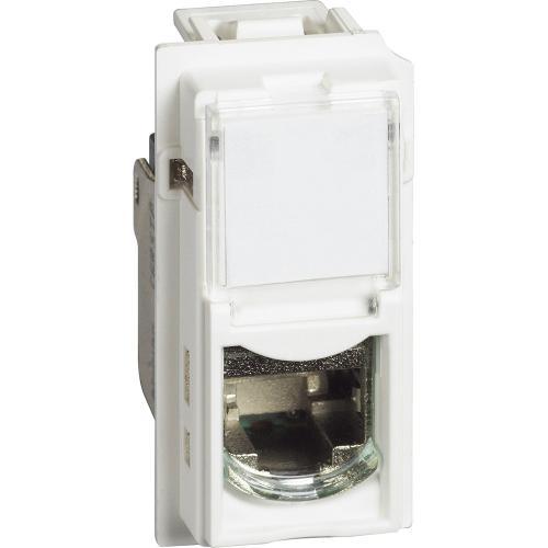 BTICINO - Розетка RJ45 cat.6A STP конектор toolless IDC 1 мод. цвят Бял Living Now Bticino KW4279C6AS