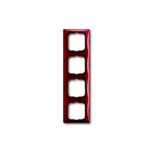 ABB - 2CKA001725A1519 Рамка четворна ABB Basic55 Керемидено червена