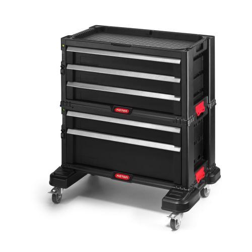 KETER - Шкаф за инструменти пет чекмеджета с колела 17199301