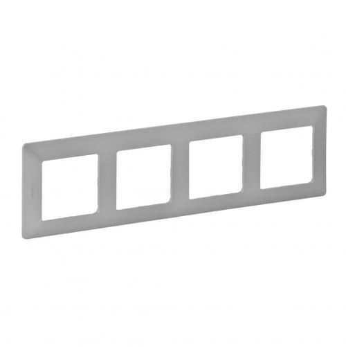 LEGRAND - Четворна рамка Valena Life 754134 алуминий