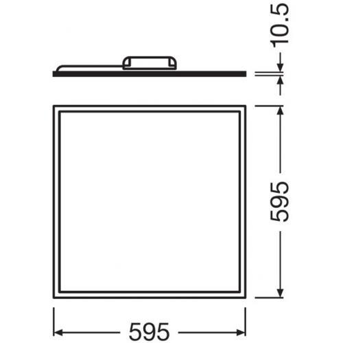 OSRAM - LED ПАНЕЛ VALUE 600 с ниско ниво на заслепяване UGR < 19 40W 3000K 3300lm