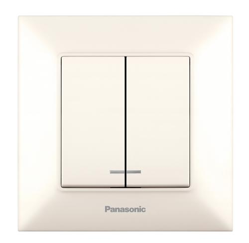 PANASONIC - Сериен ключ светещ Panasonic Arkedia Slim крем WNTC0010-2BG