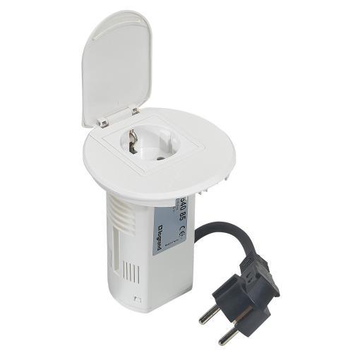 LEGRAND - 054085 Модул за бюро бял 1х 2P контакт и USB + кабел