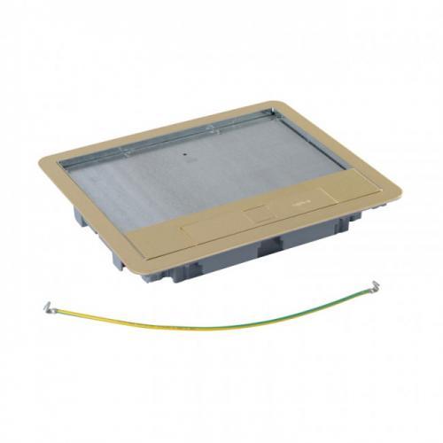 LEGRAND - 88008  Капак за подова кутия 16  мод. вертикален, 24  мод. хоризонтален монтаж месинг