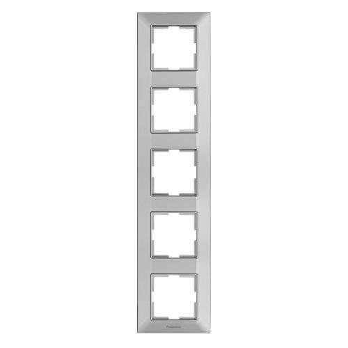 PANASONIC - Рамка петорна вертикална сиво PANASONIC Arkedia slim WNTF0815-2SL