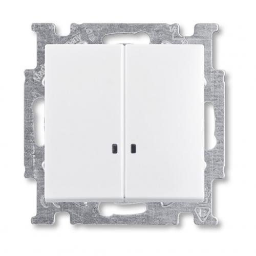 ABB - Ключ сериен с индикаци СХ.5 ABB Basic55 Бяло 2006/5 UCGL-94-507
