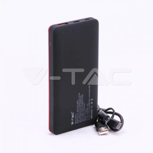 V-TAC - 10000 mAh Външна Батерия Дисплей USB Тип C Червена SKU: 8871 VT-3511