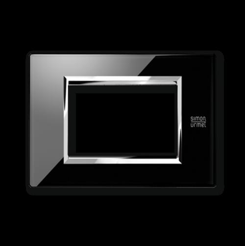 SIMON URMET - 13003.NR Black Lava Expi тримодулна рамка