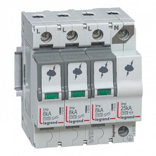 LEGRAND - Катоден отводител SPD 3P+N T1+T2 8kA 412257
