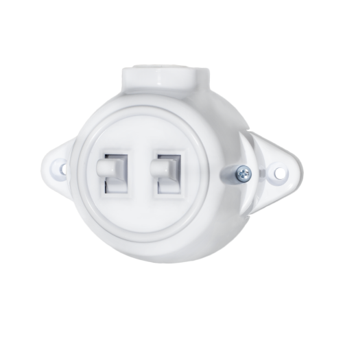 ATRA - Сериен ключ 10A открит монтаж IP21 бял 5125