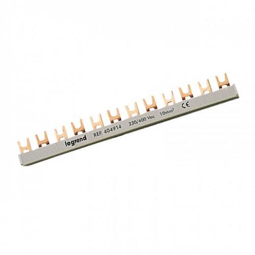 LEGRAND - Двуполюсен захранващ гребен тип U за max. 28 свързани устройства 16мм2 404914