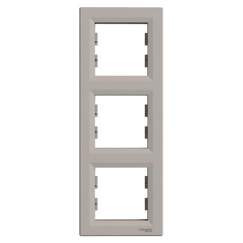 SCHNEIDER ELECTRIC - EPH5810369 Вертикална Рамка Тройна Asfora Бронз