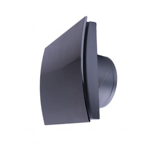 MMOTORS - Вентилатор за баня MM-P 100/169 стъкло, черен мат, овал