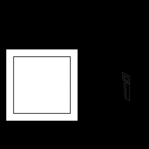 ULTRALUX - LPSB105627 LED ПАНЕЛ ЗА ВГРАЖДАНЕ, КВАДРАТ, 6W, 2700K, 220V, ТОПЛА СВЕТЛИНА