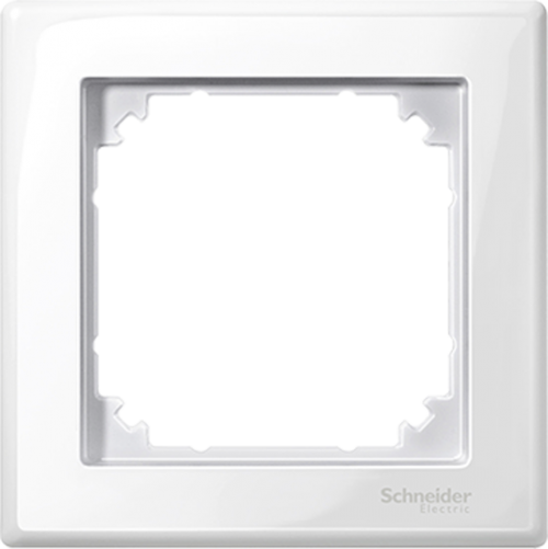 SCHNEIDER ELECTRIC - MTN478125 M-Smart frame, 1-gang, active white, glossy