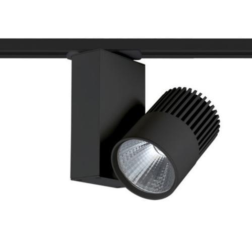 ACA LIGHTING - BIENAL1530B2 BLACK LED TRACK LIGHT 15W 3000K 2WIRES 36° 1100LM 230V Ra80