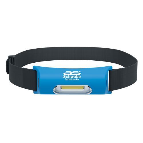 AS SCHWABE - Челник за глава 2W 75/150lm със силиконов каишка батерия 3,7V с USB зареждане 42823