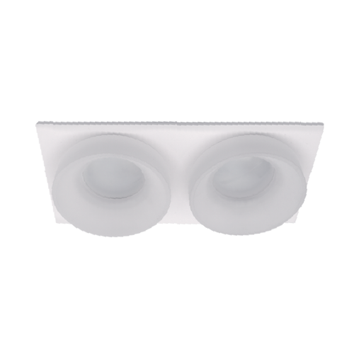 ELMARK - SA-045/2 луна за вграждане двойна правоъгълна бяла 92045S2/WHFR