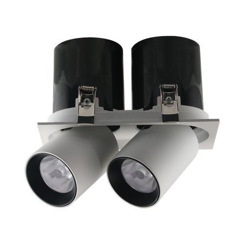 V-TAC PRO - LED Луна SAMSUNG Чип - 2*18W Регулируема Черно/Бяла 4000К SKU: 20050 VT-436