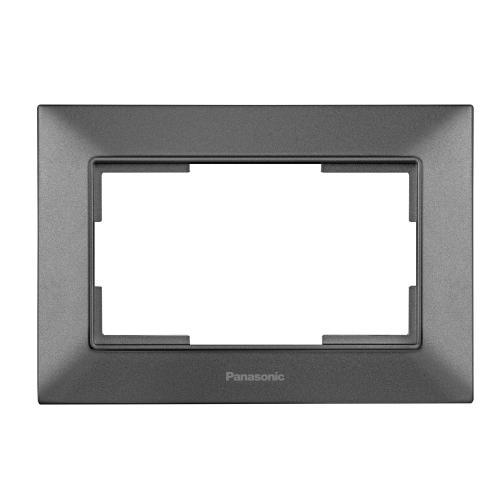 PANASONIC - Рамка за двоен контакт тъмносиво Panasonic Arkedia Slim WNTF0809-2DG