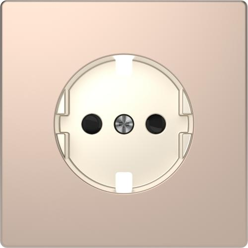 SCHNEIDER ELECTRIC - MTN2330-6051 Лицев панел за контакт шуко метален шампанско System Design