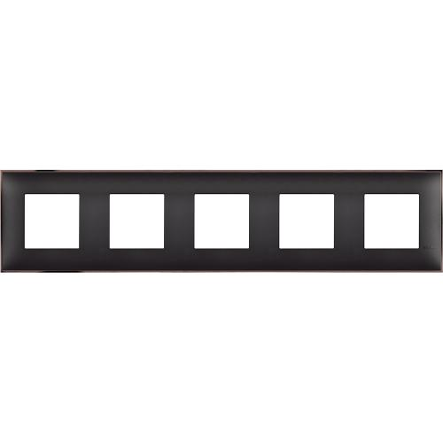 BTICINO - R4802M5BH cover plate - 2+2+2+2+2 horizontal/vertical installation modules - Black nickel