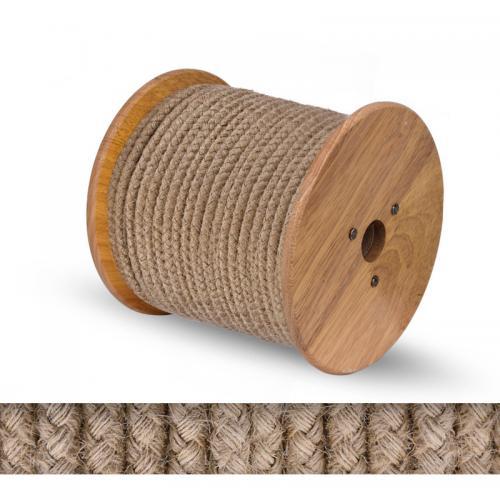 БЪЛГАРСКИ КАБЕЛ - Текстилен кабел въже конопено кръгъл  2x0.75