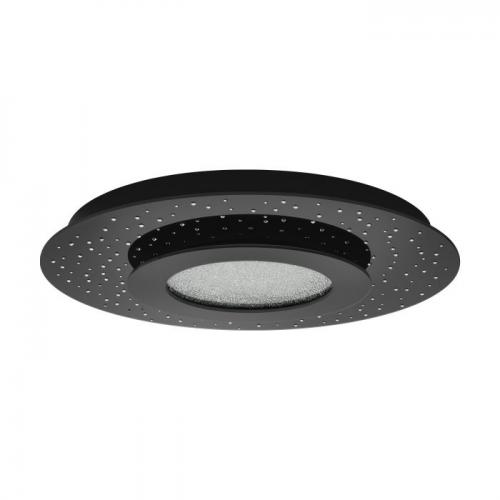 EGLO - Плафониера ПЛ LED черно/стъкло/кристал, дим. с дист.управление 'AZURREKA 33711