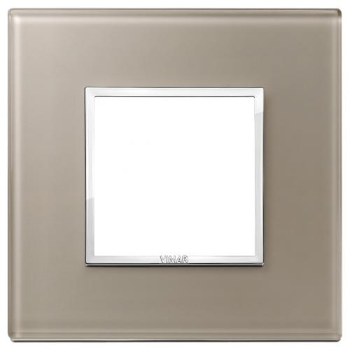 VIMAR - 21642.74 - Двумодулна рамка crystal opal brown