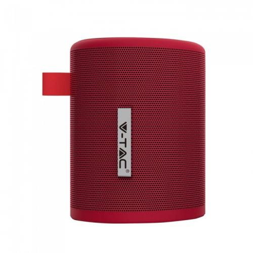 V-TAC -  Преносима Bluetooth Колона Micro USB 1500mah Червена SKU: 7719 VT-6244