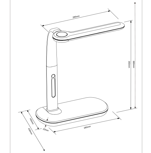 TRIO - Работна лампа ARKO 577390102