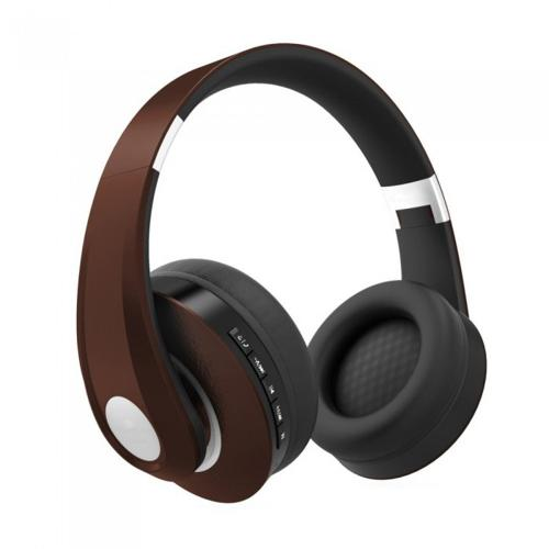 V-TAC - SKU:7732 VT-6322 BLUETOOTH WIRELESS HEADPHONE WITH ADJUSTABLE HEAD-500mah-BROWN