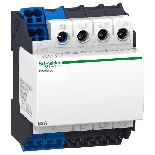 SCHNEIDER ELECTRIC - Клемен блок Distriblock 4P 80A вход 25мм2 отгоре 4 мод. 04040