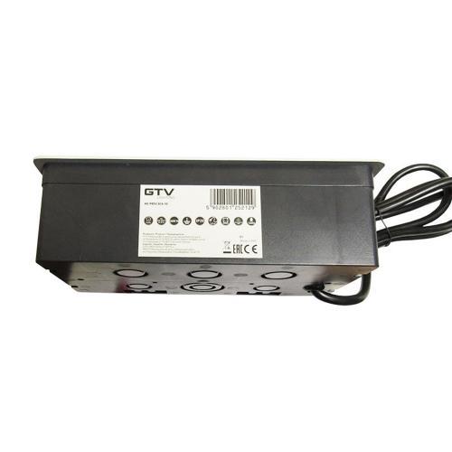 GTV Lighting - Контакт за вграждане в мебел метал бял AE-PBSUC2GS-10 контакт тип шуко 2бр.+ USB 2бр