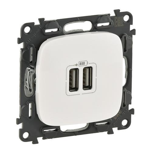 LEGRAND - 754995 Двоен USB контакт 1500мА за зареждане 5V Valena Allure /комплект с механизъм/