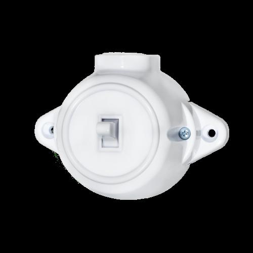 ATRA - Kлюч лихт бутон 10A открит монтаж IP21 бял 5225