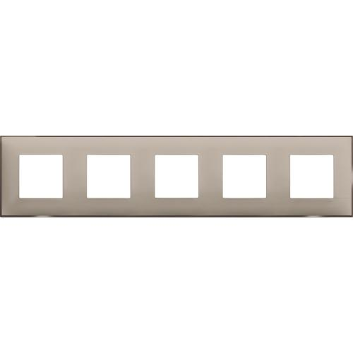 BTICINO - R4802M5CS cover plate - 2+2+2+2+2 horizontal/vertical installation modules - Cream satin