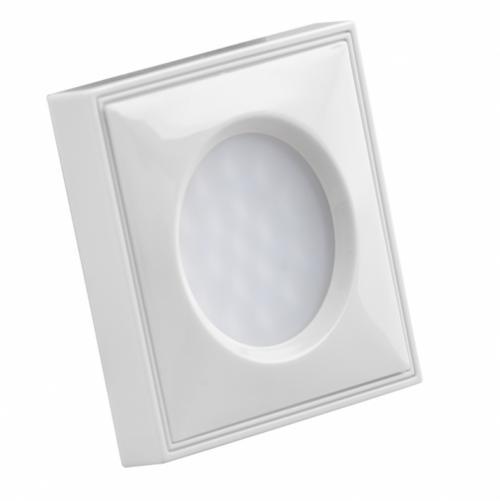 ULTRALUX - MLLS1540W Мебелна светодиодна луна за вграждане/ открит монтаж, квадрат, 1.5W, 4000K, 12V DC, неутрална светлина, SMD 3014, бяла