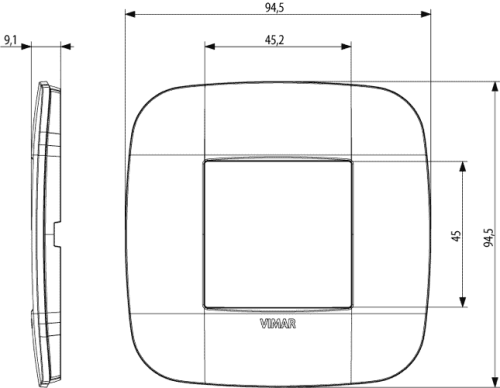 VIMAR - 19672.83 - Двумодулна рамка Round технополимер ivory